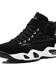 Men's Sneakers Spring / Fall Round Toe PU Athletic Flat Heel Others / Lace-up Black / Black and White Basketball