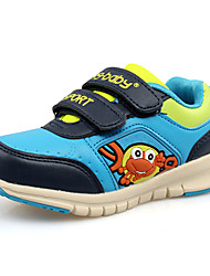 Boy's Flats Spring / Fall Round Toe PU Casual Flat Heel Others / Hook & Loop Blue / Red Others