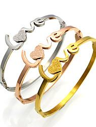 Bracelet Bracelets Rigides / Manchettes Bracelets Acier au titane Others / AmourDurable / Mode / Vintage / Style Punk / Ajustable /