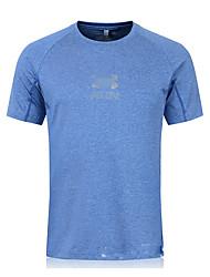 Course Shirt Homme Manches courtes Respirable / Séchage rapide / Compression / Anti-transpiration Fibre de bambou-carbonne Course Sportif