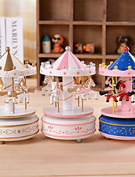 The Carousel Music Box And Little Star Pattern Cone Top Box Classic Birthday Gift