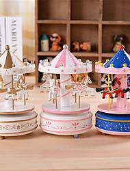la boîte à musique de carrousel et petite boîte de top modèle star cône cadeau classique d'anniversaire