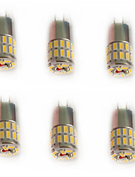 2.5 G4 Luces LED de Doble Pin T 36 SMD 3014 110-120 lm Blanco Cálido / Blanco Fresco / Blanco Natural Decorativa DC 12 V 6 piezas
