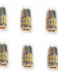2.5 G4 Luci LED Bi-pin T 36 SMD 3014 110-120 lm Bianco caldo / Luce fredda / Bianco Decorativo DC 12 V 6 pezzi