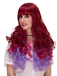 Wine red and purple long hair wig.WIG LOLITA, Halloween Wig, color wig, fashion wig, natural wig, COSPLAY wig