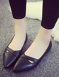 Women's Flats Spring / Summer / Fall Pointed Toe / Flats PU Casual Flat Heel Others Black / White Others