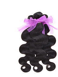 "Brazilian Virgin body wave Hair Weaving Natural Black 8-26 inches 3PCS/Lot 100g/pcs Raw Unprocessed Hair Weft(20"")"