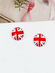 Unisex Fashion UK Flag Style Magnetic Alloy Earring 1pc