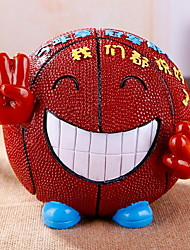 Creative Cartoon Novelty Resin Basketball Piggy Bank