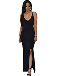Women's Crisscross Daring Back Maxi Dress