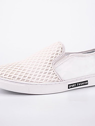 Men's Shoes Tulle Casual Flats Casual Walking Flat Heel Others Black / White