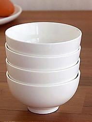 tigela branca pura porcelana porcelana de ossos