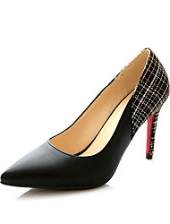 Women's Cow Leather Assorted Color Pointed Closed Toe Spikes Stilettos Pumps-Shoes