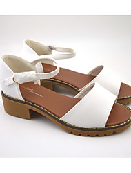 Women's Sandals shoes low heel PU Casual Low Heel Others White / Gray