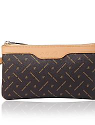 AOVO® Women PVC Wallet Brown-Y081