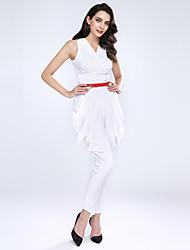 Women's Casual Micro-elastic Medium Sleeveless Jumpsuits