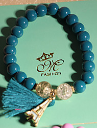 Strand Bracelets 1pc,Blue / Pink Bracelet Fashionable Circle 514 Crystal Jewellery