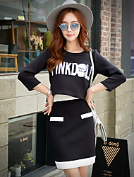 PINK DOLL Women's Solid / Color Block Skirts,Simple / Cute / Street chic Above Knee