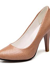 Damen-High Heels-Büro / Kleid / Lässig-Kunstleder-Stöckelabsatz-Absätze / Spitzschuh / Pumps-Schwarz / Silber / Gold / Beige