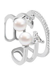 Ring Fashion Wedding / Party / Daily / Casual Jewelry Alloy Women Band Rings 1pc,Adjustable Silver