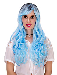 Blue gradient long curly hair wig.WIG LOLITA, Halloween Wig, color wig, fashion wig, natural wig, COSPLAY wig.