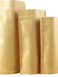 крафт-бумажные мешки крафт стоя Ziplock еды мешки для упаковки пакетиков запечатаны мешки сухофруктов десять упаковки