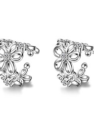 Alloy Fashion Flower Silver Jewelry Daily Casual 1 pair