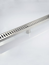 PHASAT 600mm Stainless Steel Nickel Bathroom Kitchen Linear Shower Square Floor Drain