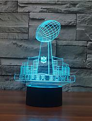 super bowl tactile gradation 3d conduit de lumière de nuit lampe atmosphère décoration 7colorful éclairage nouveauté lumière de Noël