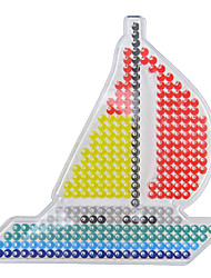 1PCS Template Clear Perler Beads Pegboard Sailing Boat Pattern for 5mm Hama Beads Fuse Beads