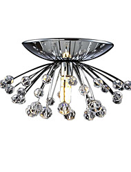 Mini Flush Mount Crystal Ceiling Chandelier