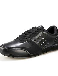 Femme-Sport-Noir / Bleu / Rouge-Talon Plat-Ballerines-Sneakers-Polyuréthane