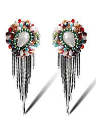 TIANSHE Women'S Stylish diamond earrings earrings Alloy 1 pair