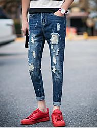 Men's Jeans Pants Solid