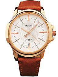 YAZOLE® Men's Quartz Casual Fashion New Watch Business Leather Belt Round Alloy Dial Watch Cool Watch Unique Watch