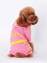 Perros Ropa / Ropa Negro / Rosado Invierno Letra y Número Mantiene abrigado, Dog Clothes / Dog Clothing-Other
