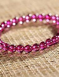 Feminino Pulseiras Strand Cristal Cristal Moda Forma Redonda Roxo Jóias 1peça