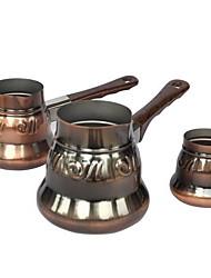 Three-piece Brass Handmade Turkish Coffee Pot 2/3/5 Servings