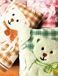 The Bear Grid Quality Untwisted Yarn Pure Cotton Jacquard Towel