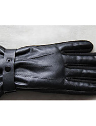 Winter Men'S PU Thick Warm Outdoor Riding Motorcycle Electric Bicycle Gloves
