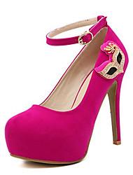 Women's Shoes Fleece Spring / Fall Heels Heels Party & Evening Stiletto Heel Sparkling Glitter / Buckle Others