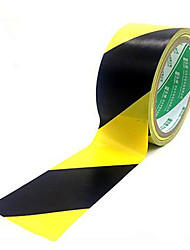 Custom Yellow Black Warning Tape 4.8cm Long 18m PVC Black Yellow Warning Tape