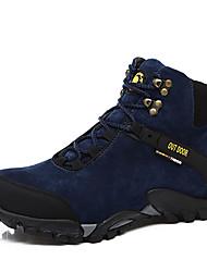 Черный / Синий-Мужской-Для прогулок / На каждый день-Ткань-На плоской подошве-Удобная обувь / С круглым носком-На плокой подошве