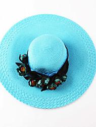 Oufulga Blue Handmade Women Sun Hat