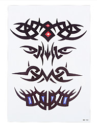 1pc Abstract Butterfly Eyes Picture Design Women Men Body Sleeve Hand Art Temporary Tattoo Sticker HB-153