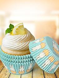 Anniversaire Parti Vaisselle-100Pièce/Set Emballages Muffins-Cupcake Pétales 100% pulpe vierge Thème classique