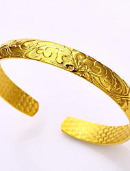 The Gold-Plated 24K Golden Fresh Flowers Blooming Like a Piece of Brocade Bracelet