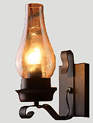 Retro Rustic Nordic Glass Wall Lamp Bedroom Bedside Wall Sconce Vintage Industrial Wall Light Fixtures