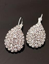 Women's Stud Earrings Drop Earrings Fashion Luxury Costume Jewelry Rhinestone Imitation Diamond Alloy Oval Drop Jewelry For Party Daily
