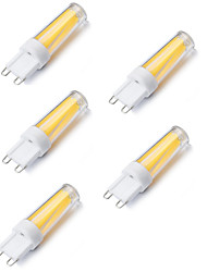 5pcs G9 3W mini LED lámpara de filamento de la lámpara G9 luces de color blanco cálido / frío (220-240V)
